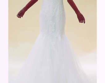 Sweetheart Mermaid Wedding Dress with Lace