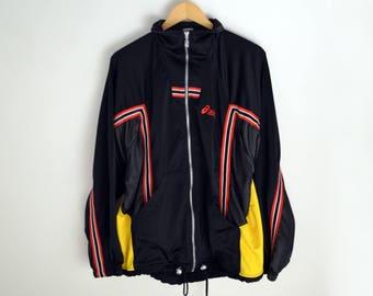 Asics vintage Jacket Asics vintage windbreaker L 90s windbreaker Vintage Windbreaker Asics jacket men L Sports 90s Vintage sport 90s asics