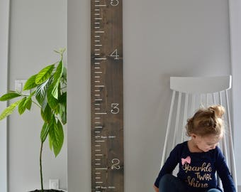 Wooden Growth Ruler | Growth Chart | Family Keepsake | Customizable Growth Ruler | Nursery Decor