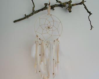 Boho dreamcatcher white & brown