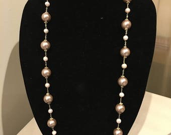 Classy Pearl Long Necklace
