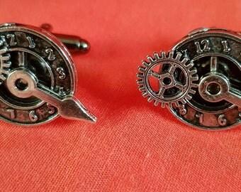 new one off pair of haematite steampunk cufflinks (81)