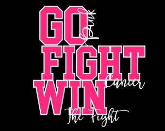 GO Fight WIN SVG Breast Cancer football awareness october