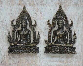 Brass Sitting Buddha Amulet Pendant Buddha Charm