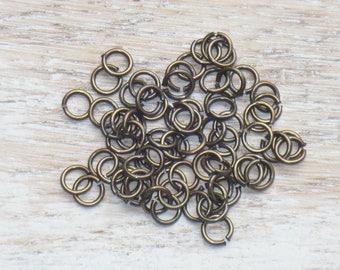 4mm Antique Brass Open Jump Rings