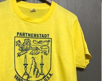 M nos thin vintage 80s Vandalia Ohio Lichtenfels Germany screen stars t shirt
