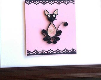 Cat Lover Quilling Card