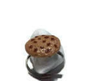 Ring with polymer clay cookie cake / gift / birthday / mother's day