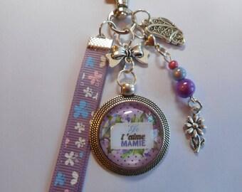 "Bag charm, door keys/Grandma / ""I love Grandma"" / gift/thank you/the great mother's day/birthday party"