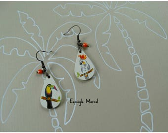 Earrings - porcelain earrings - tropical Inspiration