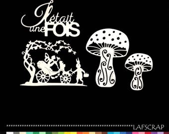 Flower fairy scrapbooking cuts great mini mushroom word once upon a time paper embellishment die cut