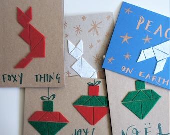 Geometric felt Christmas card kit