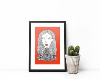 Portrait of a Woman Print