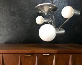 Original Star Trek Enterprise 1960s / 1970s Vintage Mid Century Modern Panton Era Mod Prestigeline Hanging Lamp