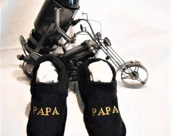 Slippers washable dad T 37/39 made 100% in France