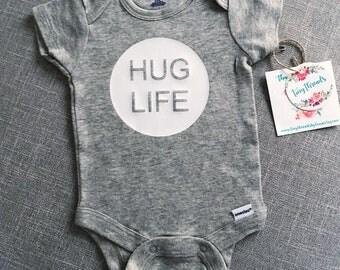 Hug Life Onesie® | Baby Onesie® | Baby Boy Onesie® | Baby Girl Onesie® | Infant Clothes | Custom Baby Onesie® | Bodysuit | Baby Shower Gift