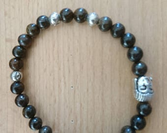 Bronzite Buddha bracelet