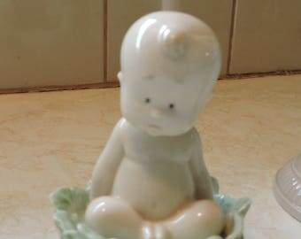Nao Lladro Baby in Cabbage Leaf Where do Babies Come From?