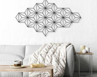 Harmony wall art, metal wall art, modern wall art, black wall hanging, minimalist wall art, geometric wall art, geometric wall decor, glyphs