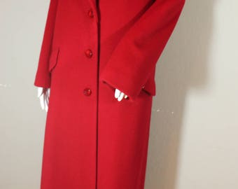 Vintage Red Wool Princess Coat