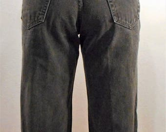 Levi's 550s / waist 30/ Vintage Black 90s jeans mom jeans