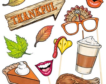 20 Thanksgiving Activity Photo Booth Props - Instant Download - Free Photo Booth Sign