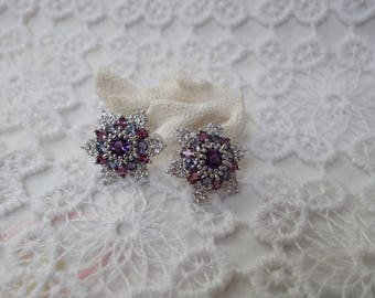 Semi precious stones and silver ARWA earrings