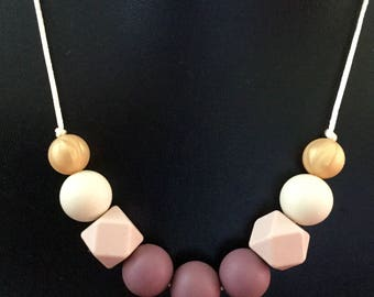 ASTRID Silicone bead necklace PLUM