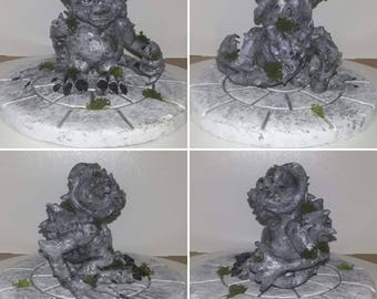 Leopold the Gargoyle, Sculpture, Gargoyle, Polymer Clay, Statue