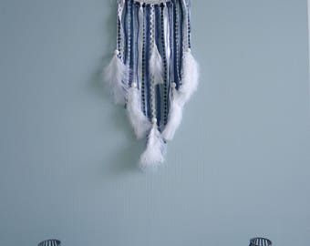 Blue and white doily dreamcatcher dream catcher