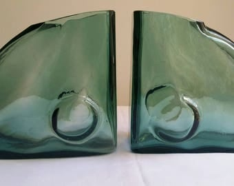 Art Glass vase bookends