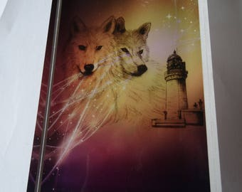 Block Plexi Wolf and lighthouse