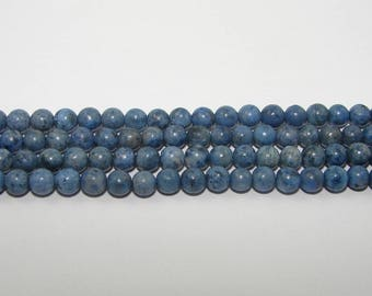 Dumortierite ball 4.50 mm. Semi precious stones. (6587271)