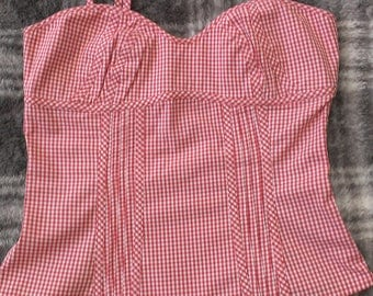 Guess Jeans Gingham Top. New without tags.