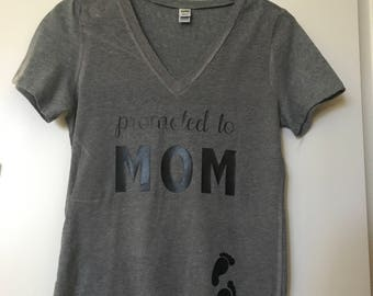 Promoted to Mom Maternity Shirt