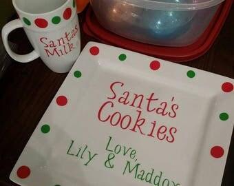 Santa's Cookies and Milk Sets