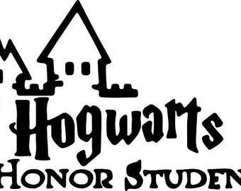 Hogwarts honor student Sticker, Vinyl decal for tumbler, water bottle, etc decoration, Harry Potter