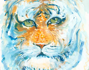 Wise Bobcat Archival Giclée Print on Archival Fine Art Paper Made of Cotton