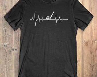 Golf T-Shirt Gift: Heartbeat Golf