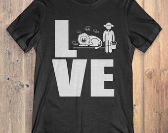 Zoo Keeper T-Shirt Gift: Love Zoo Keeper