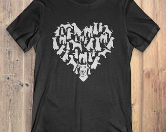 Welsh Terrier T-Shirt Gift: Heart Welsh Terrier