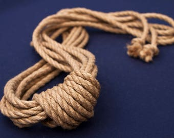 Natural Japanese 6mm jute rope for kinbaku and shibari.