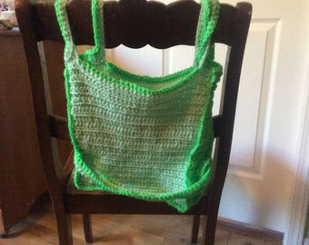 Square crocheted handbag
