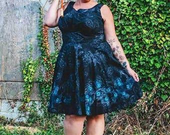 50's Rockabilly Dress with open back