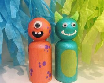 Monster Peg Dolls