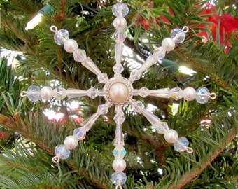 Glass Slipper Snowflake Ornament
