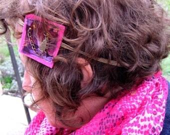 Headband geometric matryoshka and pink