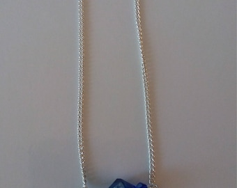 Necklace Crystal Blue Pendant