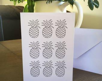 Mini pineapple card