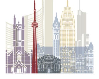 Toronto Cityscape Art Print